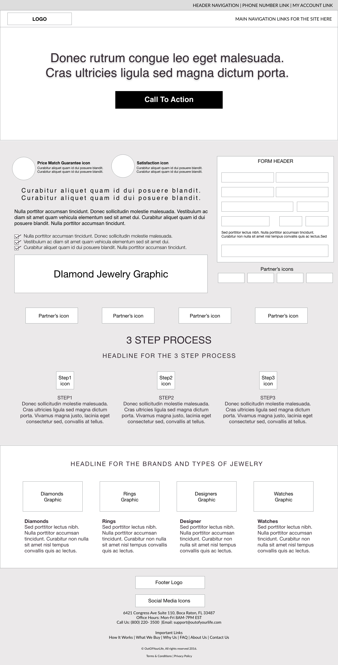 kunalamin.com-Out Of Your Life-homepage_wireframe